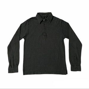 KENNETH COLE Men's Polo Long Sleeve Black Size S